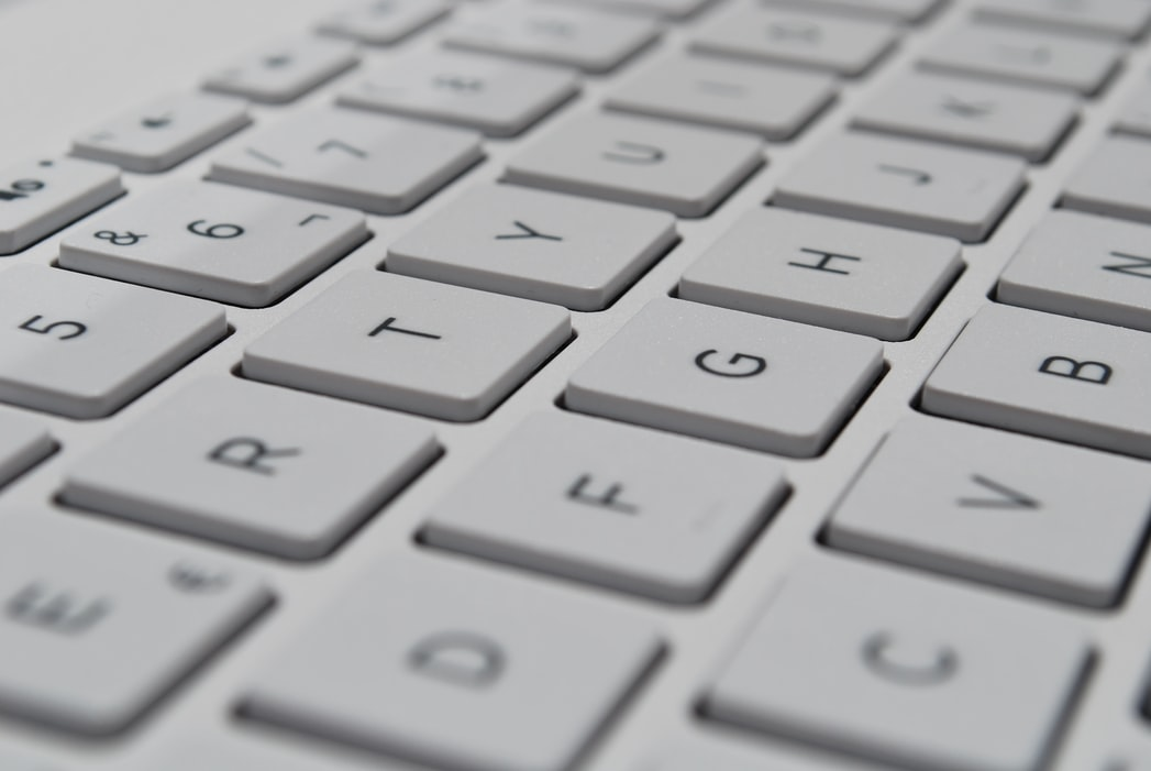 A close up of a computer keyboard.