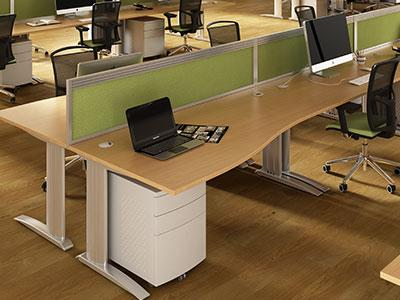 Wave desks - home office furniture