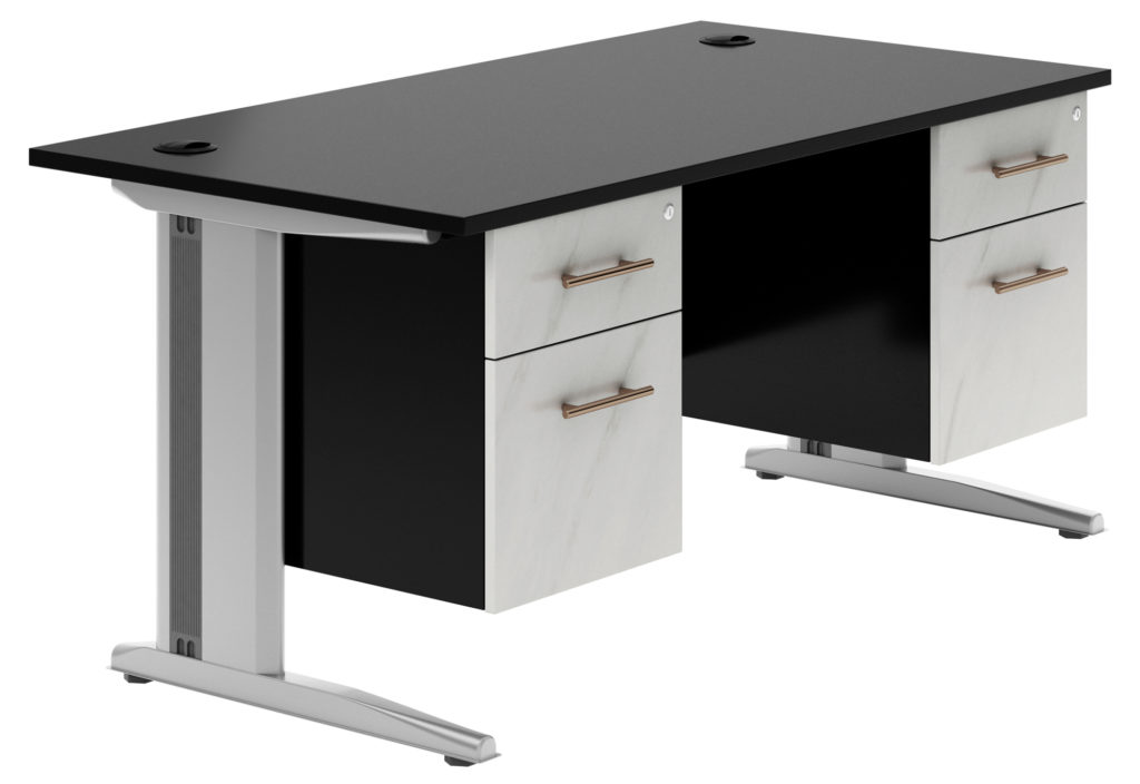 Carbon Deluxe desk with added storage