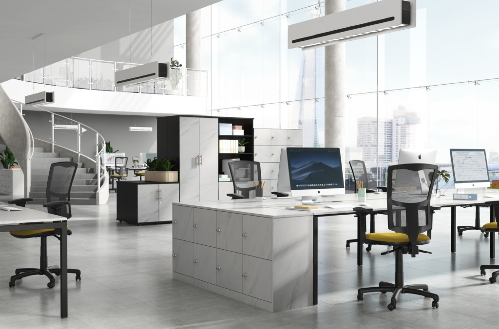 White Marble Carbon Office