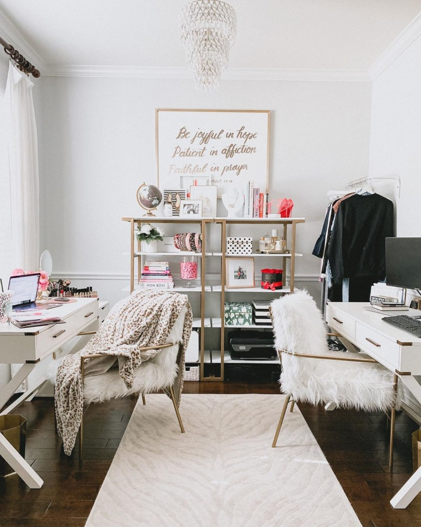 @uptownwithellybrown shared home office inspiration